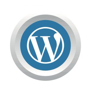 Wordpress social logo. Vector